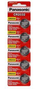 panasonic cr2032 battery pack of 5