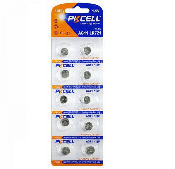 LR721 Battery Pack of 10 Alkaline 1.5V