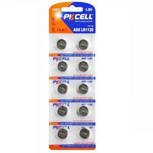 AG8 Battery Pack of 10 Alkaline 1.5V