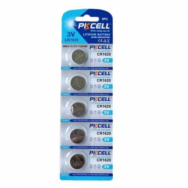 5 Pack DL1620 Battery Lithium 3V