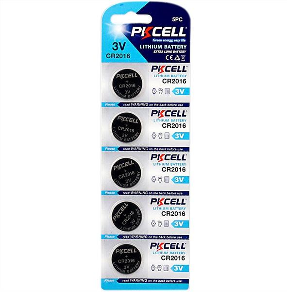 5 Pack CR2016 Battery Lithium 3V