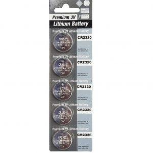 5 Pack CR2320 Battery Lithium 3V