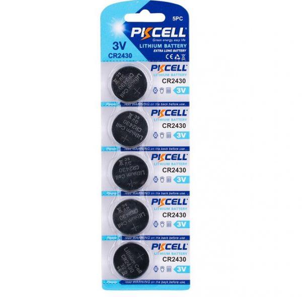 5 Pack CR2430 Battery Lithium 3V