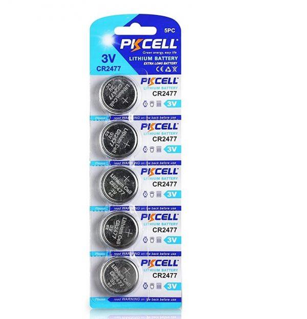 5 Pack CR2477 Battery Lithium 3V