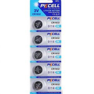 5 Pack CR1632 Battery Lithium 3V