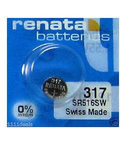 Renata SR516SW Battery Silver Oxide